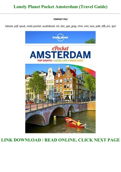 Read Book Pdf Lonely Planet Pocket Amsterdam Travel Guide Full Online