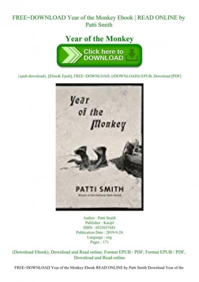 Year of the monkey pdf free download adobe reader