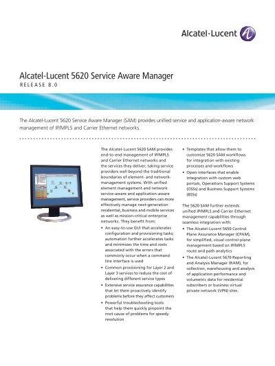 Alcatel Lucent SO interface module Top