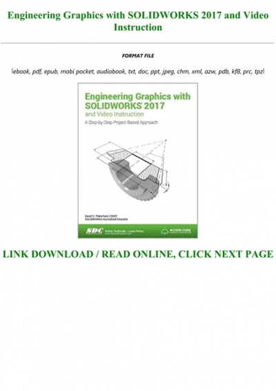 Read Engineering Graphics With Solidworks 2017 And Video Instruction Full Online