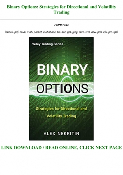 Binary options strategies for directional and volatility trading pdf download dinosaur jr i bet on sky amazon
