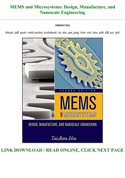 Best Pdf Mems And Microsystems Design Manufacture And Nanoscale Engineering Full Online