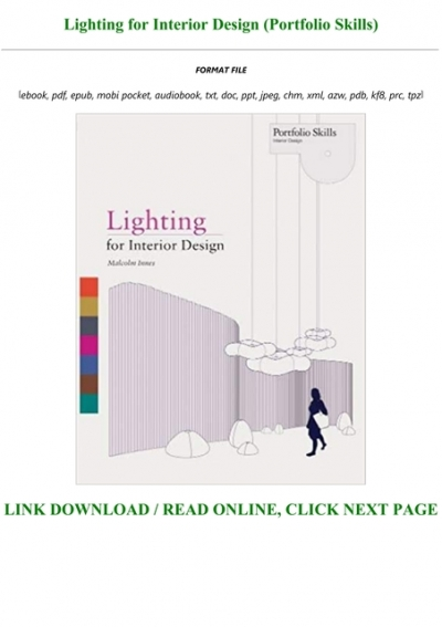 Pdf Mobi Epub Lighting For Interior Design Portfolio Skills Pre Order