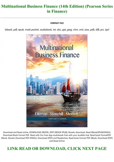 Best Pdf Multinational Business Finance 14th Edition Pearson Series In Finance Full Acces