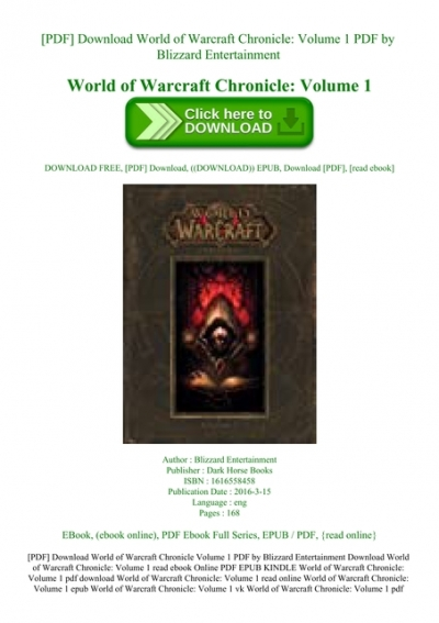 World Of Warcraft BГјcher Pdf Download