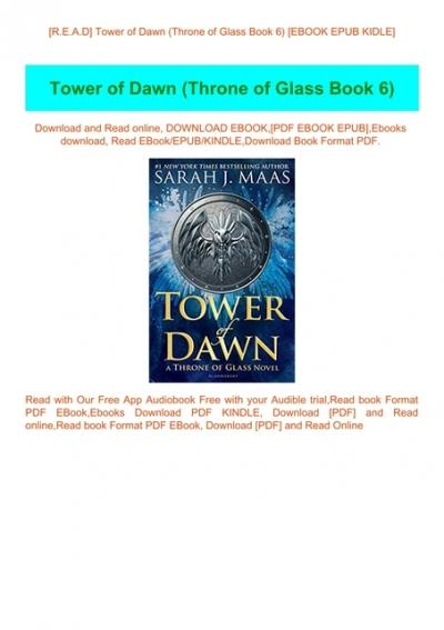 R E A D Tower Of Dawn Throne Of Glass Book 6 Ebook Epub Kidle
