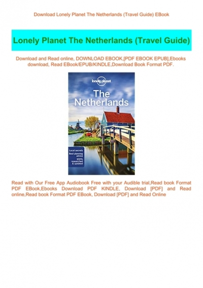 Download Lonely Planet The Netherlands Travel Guide Ebook