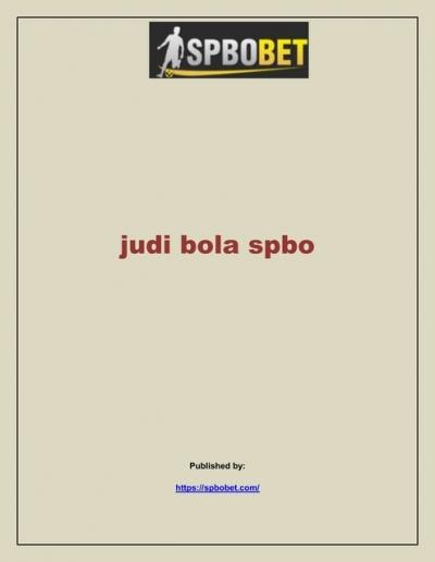 Judi Bola Spbo