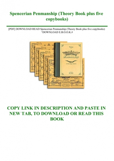 Pdf Download Read Spencerian Penmanship Theory Book Plus Five Copybooks Download E B O O K