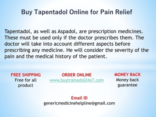 Buy Tapentadol 100Mg Tablets Online for Pain Relief