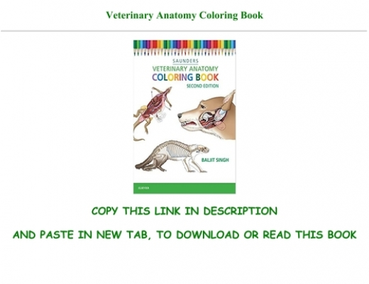 - Read [PDF] Veterinary Anatomy Coloring Book *Full Online