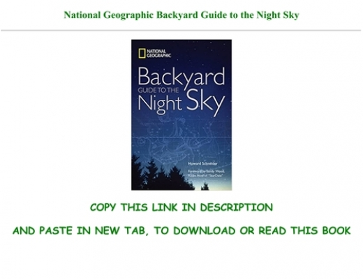~Read !Book National Geographic Backyard Guide to the ...
