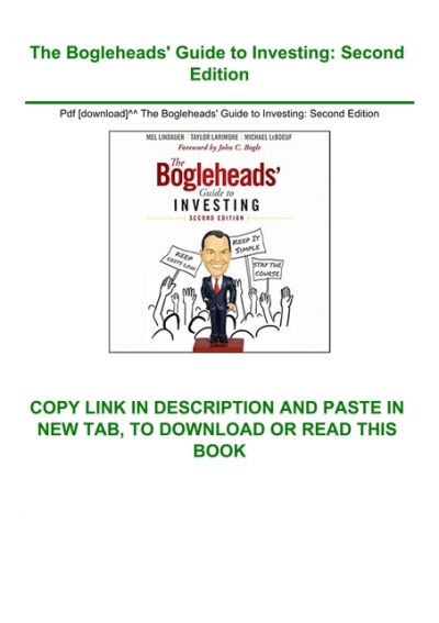 Pdf Download The Bogleheads Amp 039 Guide To Investing Second Edition Download E B O O K