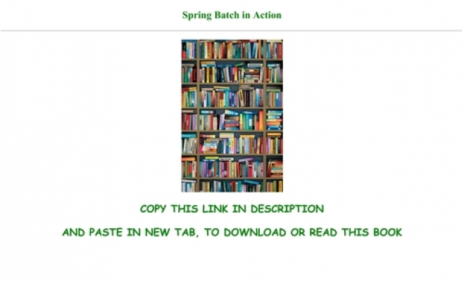 PDF$] Spring Batch in Action Full Books
