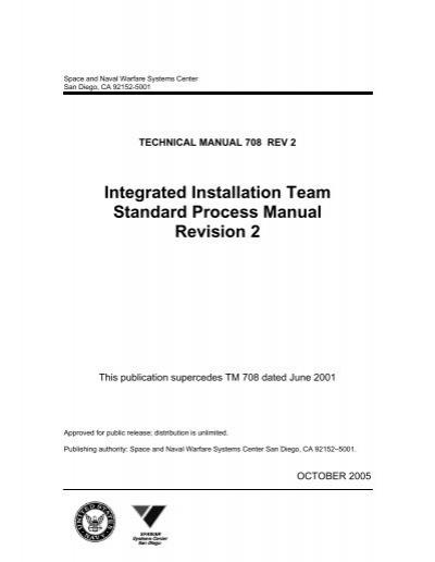 integrated installation team standard process manual revision 2 rh yumpu com SPAWAR Logo SPAWAR Pacific