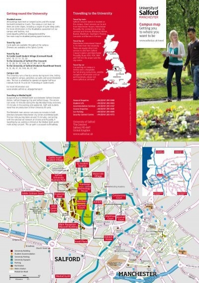 University Of Manchester Campus Map.University Of Salford Campus Map And Guide