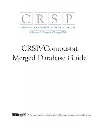 CRSP/COMPUSTAT MERGED DAT