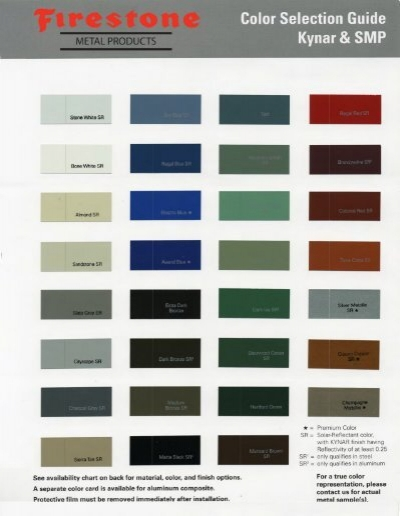 Firestone Metal Products Color Chart Viking Metal Products
