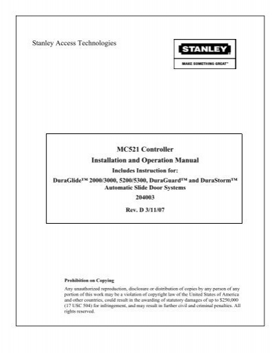 6560832 mc521 controller installation and operation manual stanley dura glide wiring diagram at crackthecode.co