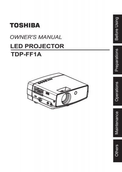 led projector tdp ff1a toshiba rh yumpu com Toshiba TV Manual RCA User Manual