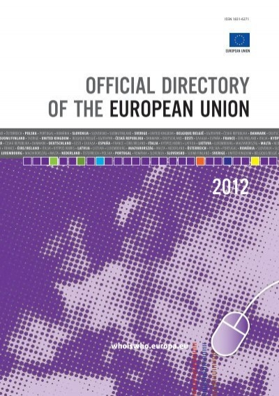 Official Directory Of The European Union Eu Bookshop Europa
