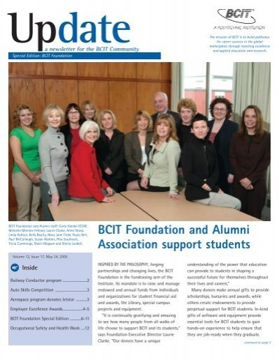 Bcit Foundation And Alumni Association Support Students