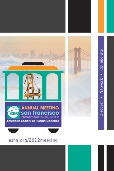 ASHG 2012 Program Guide American Society of Human Genetics