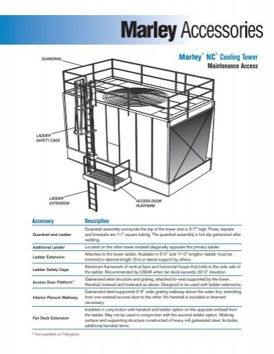 Marley Nc Cooling Tower Maintenance Access Optional