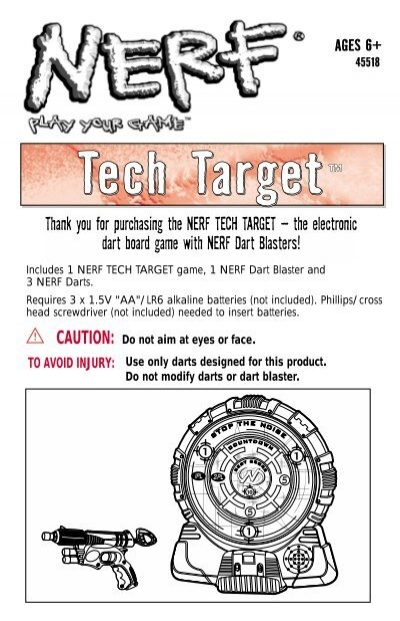 Nerf tech target instructions.