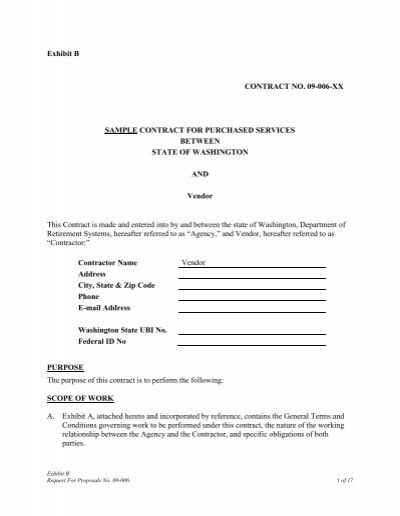 exhibit b sample personal service contract with general
