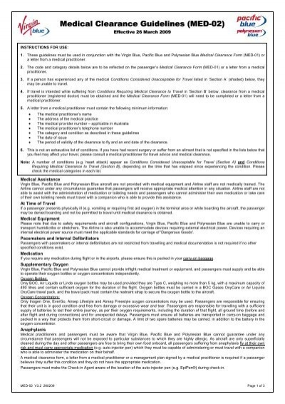 medical clearance guidelines  med-02