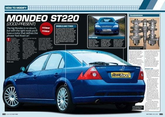 Mondeo St220 T How To Modify Fast Ford