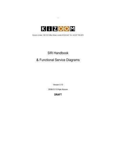 siri handbook functional service diagrams kizoom Sample UML Diagram