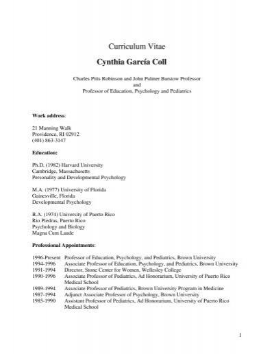 curriculum vitae cynthia garc u00eda coll - research