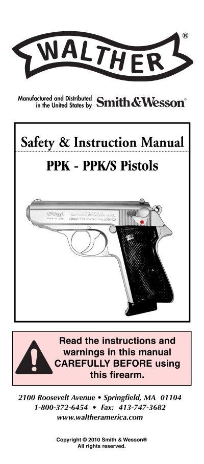 ppk pistol manual smith wesson rh yumpu com Springfield 1911 Kimber 1911