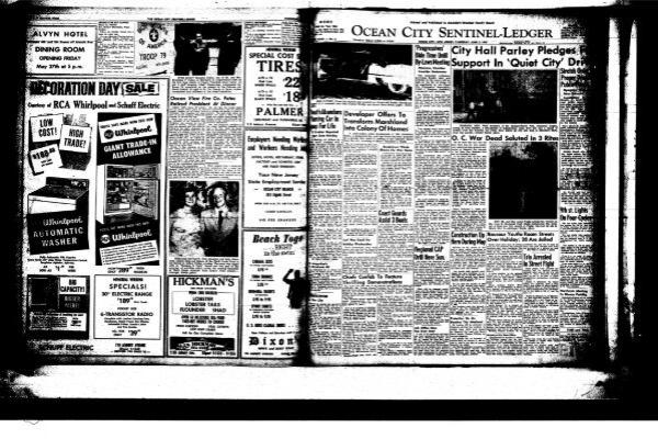 Ocean City Sentinel Ledger On Line Newspaper Archives