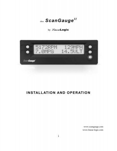 scangauge ii manual rh yumpu com ScanGauge Transmission Temperature ScanGauge II Mount