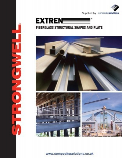 Fiberglass Structural Sections : Fiberglass structural shapes and plate composite solutions