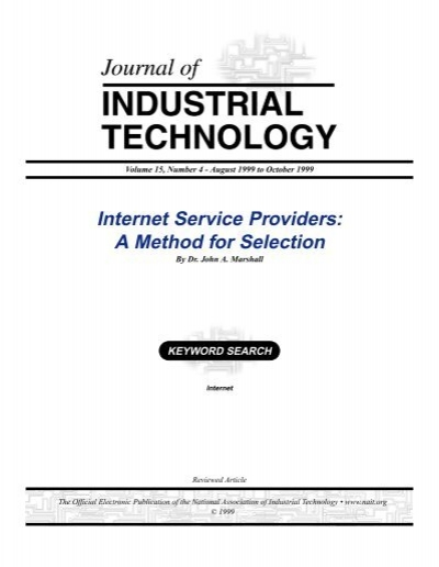 Internet Service Providers A Method For Selection Atmae