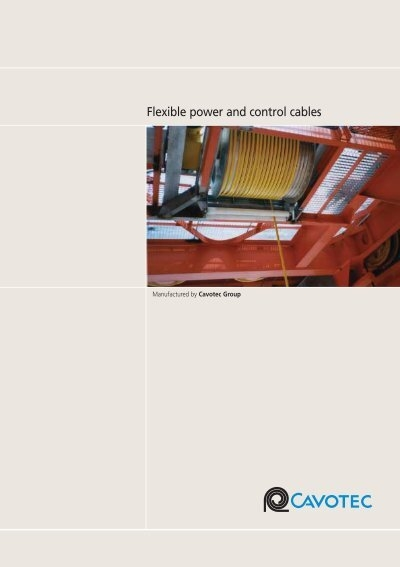 Power And Control Cables : Flexible power and control cables