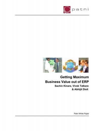 Getting Maximum Business Value Out Of Erp Sachin Kinare Ism
