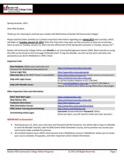 www onlineservices bhcc mass edu