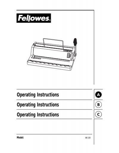 wb 100 for pdf fellowes rh yumpu com