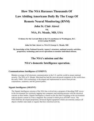 How The NSA Harasses Thousands Of Law Abiding Americans