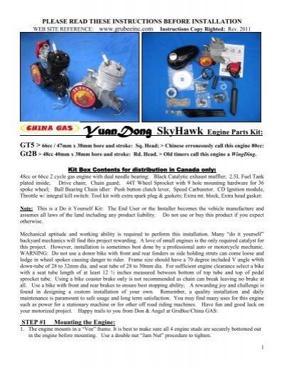 2 Stroke Engine Motorized Bicycle Bike Fuel Tank Muffler Clutch Arm Gasket