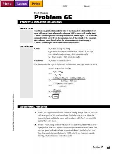 Holt Physics Worksheets - Vintagegrn