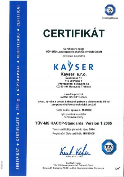 HACCP [PDF Download] - Kayser.