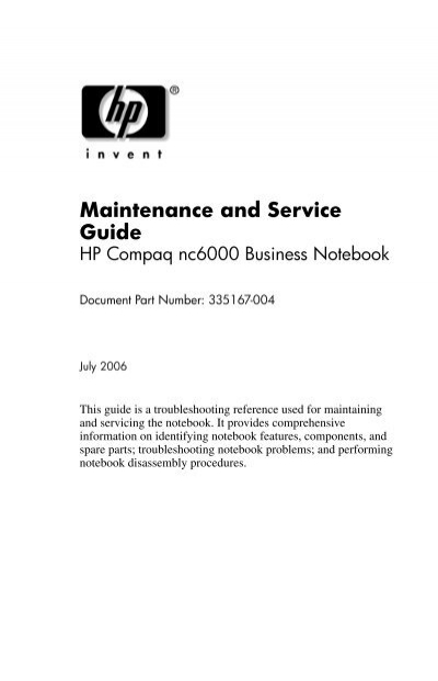 maintenance and service guide hp business support center rh yumpu com HP Blade Servers Models HP BladeSystem Matrix