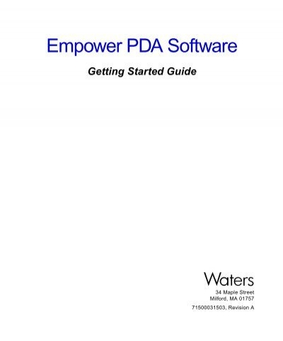 empower pda software waters Getting Started Guide Template Word Getting Started Guide Amazon