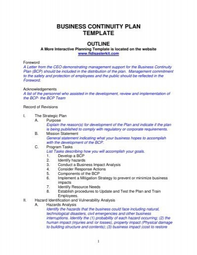 business continuity plan template putnam county florida chamber